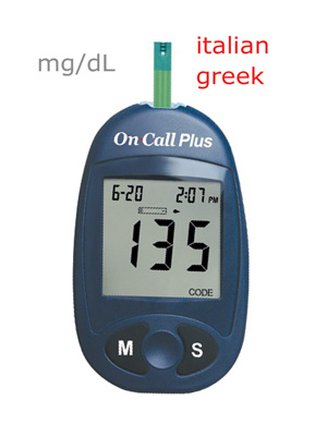 GLUCOSE MONITOR PLUS - meter only (mg/dl) - italian/greek