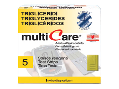 MULTICARE TRIGLYCERIDES STRIPS - 25 pcs. + 1 chip