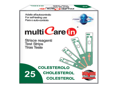 MULTICARE IN CHOLESTEROL STRIPS - 25 pcs. + 1 chip