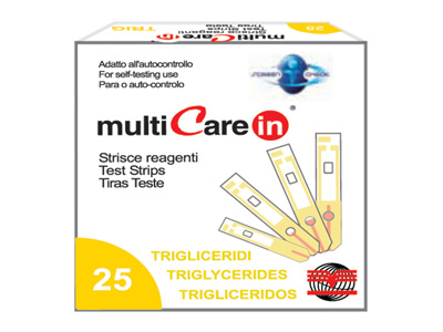 MULTICARE IN TRIGLYCERIDES STRIPS - 5 pcs. + 1 chip