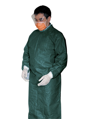 DISPOSABLE SURGICAL GOWNS - non sterile - green