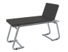 EXAMINATION COUCH - chromed - black