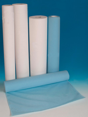 EMBOSSED POLYTHENE ROLL - 49 cm x 50 m - light blue