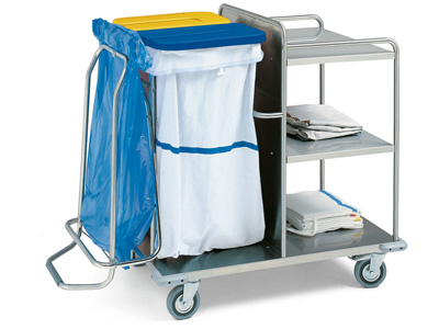 LAUNDRY TROLLEY - stainless steel