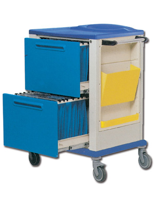 RECORD HOLDERS TROLLEY - 2 large drawers