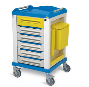 PHARMACY TROLLEY - standard 15/3 compartment partitions