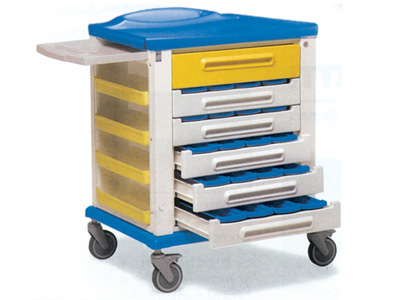 PHARMACY TROLLEY - standard 20/3 compartment partition