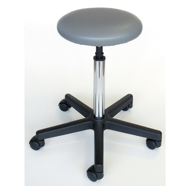 PADDED STOOL - gray - with castors