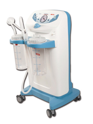 CLINIC PLUS SUCTION ASPIRATOR - 2x4l - 230V - with footswitch