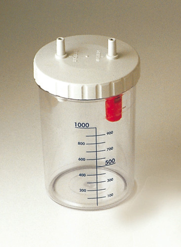 JAR 1 l - with cover overflow system - autoclavable