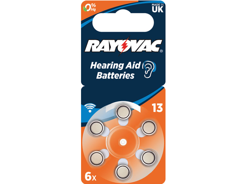 RAYOVAC 13 ZINC-AIR ACOUSTIC BATTERY - mercury free