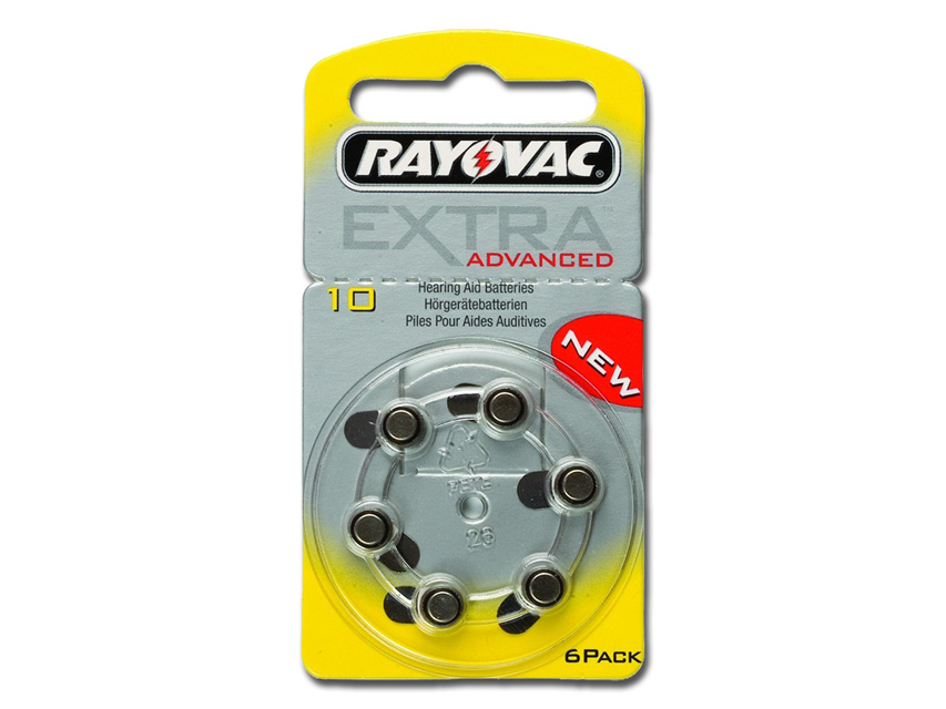 RAYOVAC 10 ZINC-AIR ACOUSTIC BATTERY - mercury free