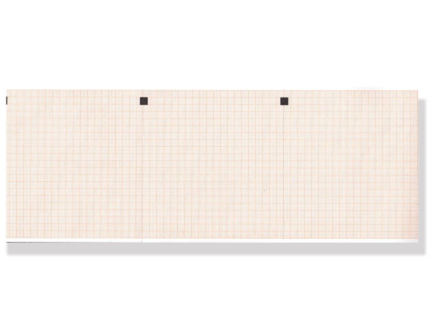 ECG THERMAL PAPER PACK - 112 x 100 mm -  orange grid