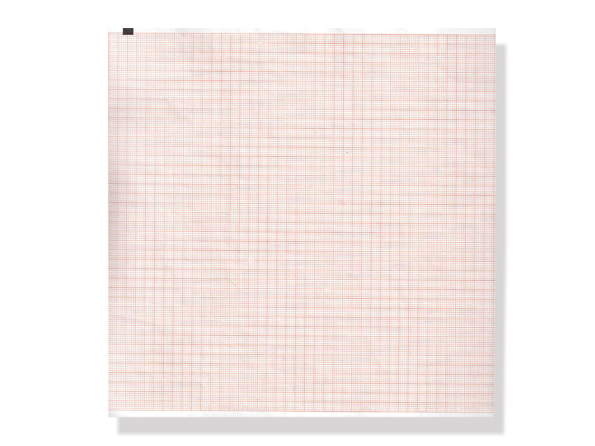 ECG THERMAL PAPER PACK - 210 x 280 mm - orange grid