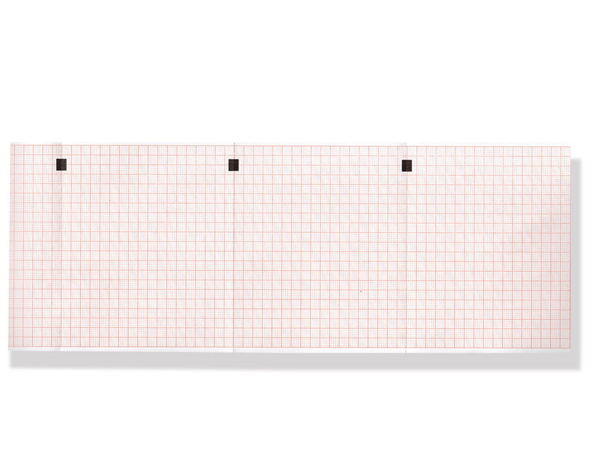 ECG THERMAL PAPER PACK - 112 x 90 mm - red grid