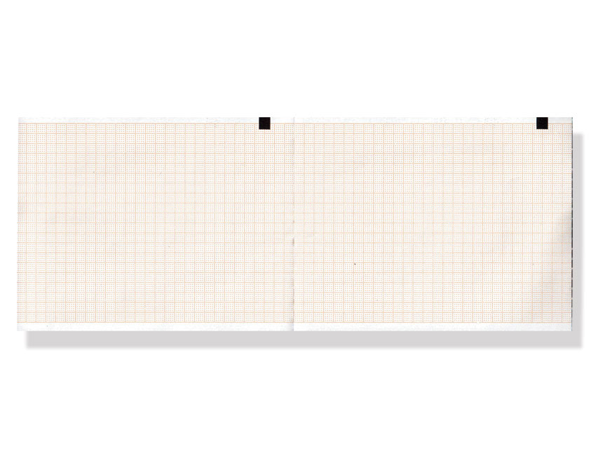 ECG THERMAL PAPER PACK - 110 x 140 mm - orange grid