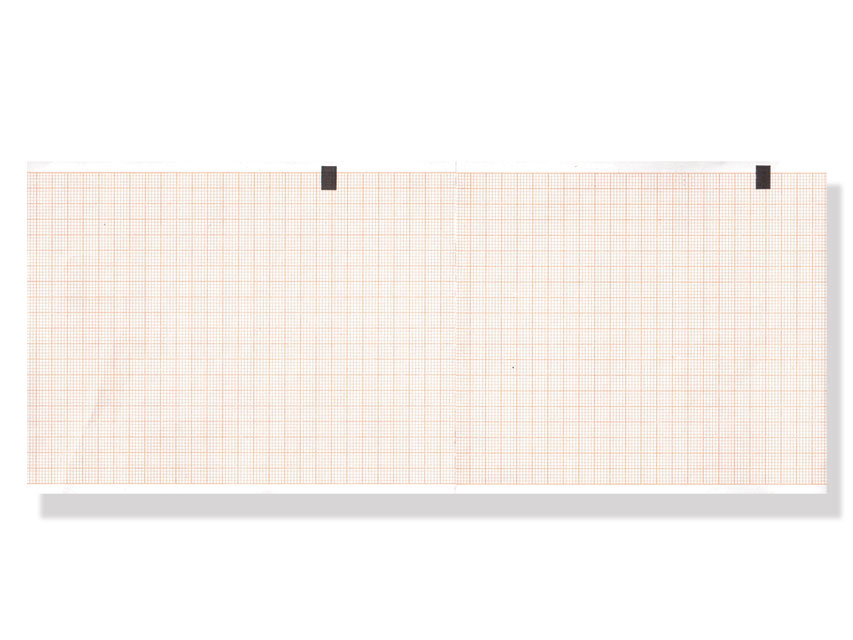 ECG THERMAL PAPER PACK - 108 x 140 mm - orange grid