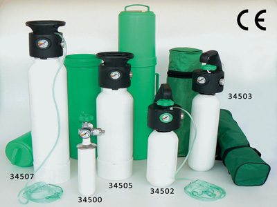 OXYGEN CYLINDERS - with UNI integrated pressure reducer - 2 l