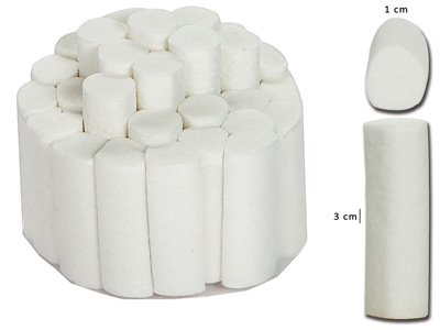 DENTAL COTTON ROLLS - 1 x 3.8 cm