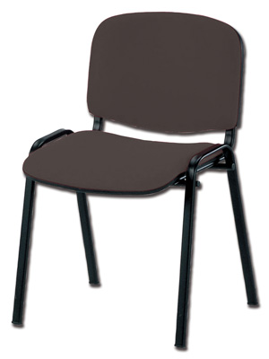 ISO CHAIR - leatherette - black - fireproof (TN 065)