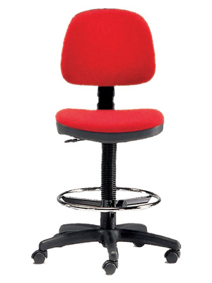 HEIGHT ADJUSTABLE STOOL - red (FP 680)