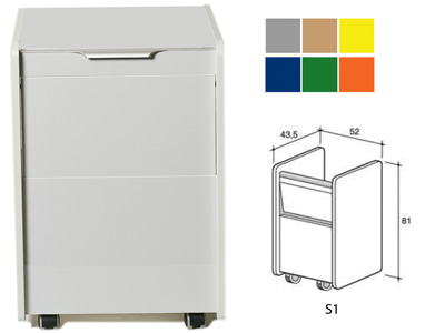 DRAWER S1 - color on demand (grey, beige, yellow, blue, green, orange)