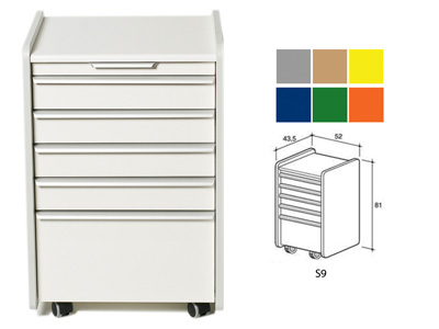 DRAWER S9 - color on demand (grey, beige, yellow, blue, green, orange)