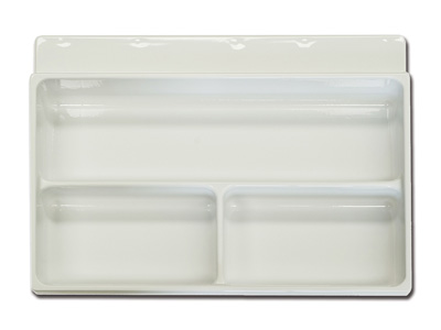 3 COMPARTMENTS TRAY - 33 x 43.5 x h 6.5 cm