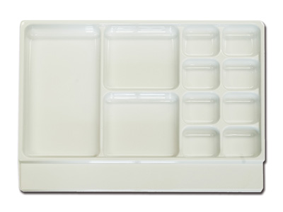 11 COMPARTMENTS TRAY - 33 x 43.5 x h 6.5 cm