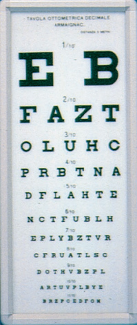ARMAGNAC OPTOMETRIC CHART - 5 m - not illuminated