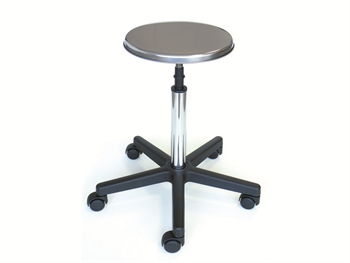 S/S STOOL - with castors