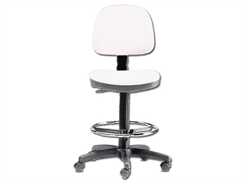 HEIGHT ADJUSTABLE STOOL - white (FP 6)