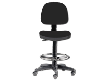 HEIGHT ADJUSTABLE STOOL - black (FP 065)